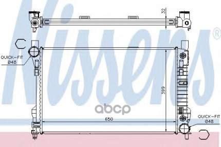 Радиатор системы охлаждения Nissens 62786A