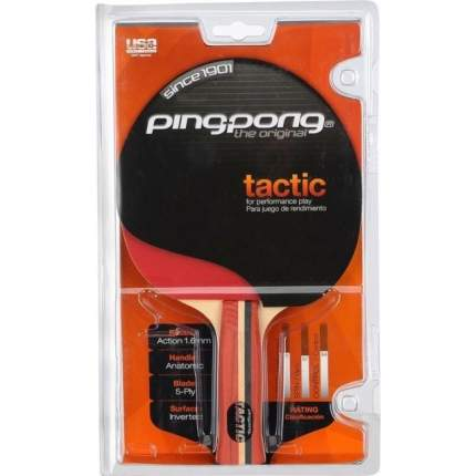 Ракетка для настольного тенниса Ping-Pong T1245 Tactic, красная