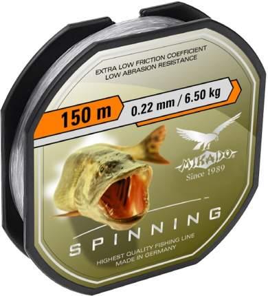 Леска монофильная Mikado Spinning 0,22 мм, 150 м, 6,5 кг