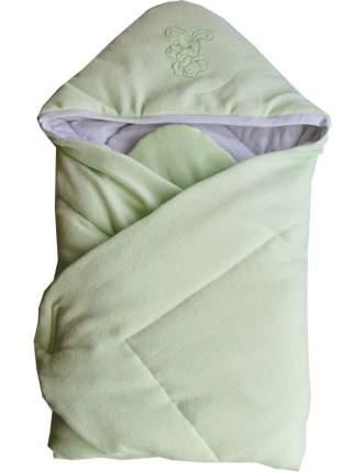 Конверт-одеяло Папитто велюр с вышивкой Салатовый 2157