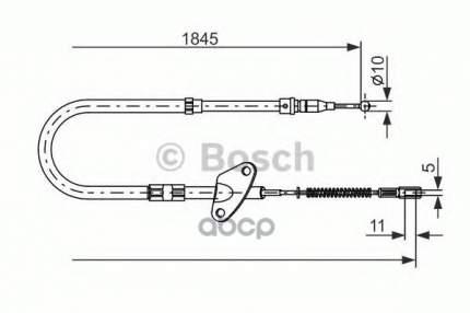 трос ручного тормоза Bosch 1987477119