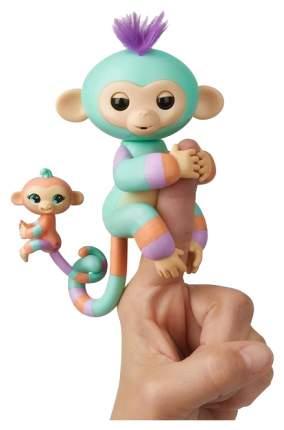 Интерактивная игрушка Обезьянка Денни FingerLings с малышом 12 см 3544M