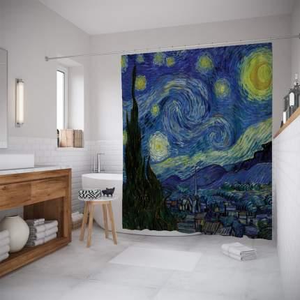 Шторы для ванной JoyArty «Звездная ночь» 180x200 см