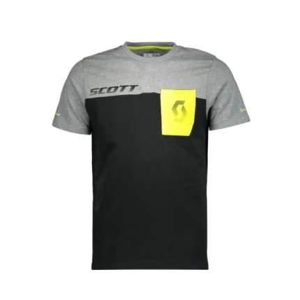 Футболка мужская Scott Co Factory Team, black/dark grey melange, L INT