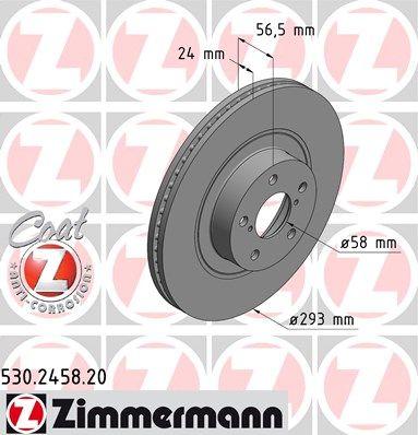 Тормозной диск ZIMMERMANN 530.2458.20