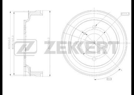 Тормозной барабан ZEKKERT BS-5027