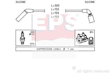 Комплект проводов зажигания EPS 1.499.006