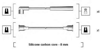 Комплект проводов зажигания MAGNETI MARELLI 941185080769