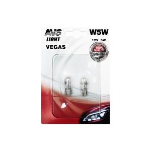 Лампа AVS Vegas в блистере 12V. W5W(W2,1x9,5d) A78478S
