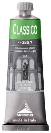 Масляная краска Maimeri Classico киноварь зеленая светлая 60 мл