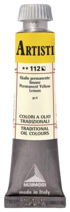 Масляная краска Maimeri Artisti M0102112 желтый стойкий лимонный 20 мл