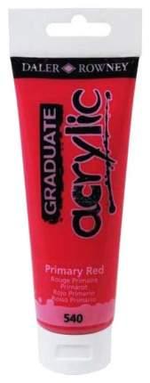 Акриловая краска Daler Rowney Graduate красный основной 120 мл