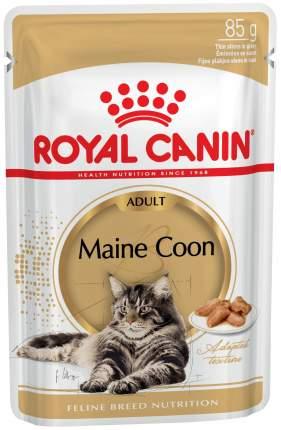 Влажный корм для кошек ROYAL CANIN Maine Coon Adult, мясо, 85г
