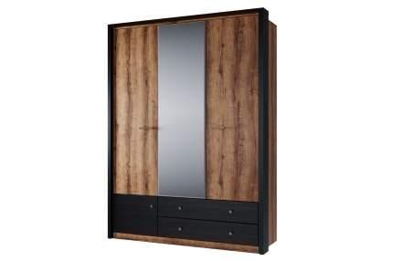 Платяной шкаф Hoff 80324760 160,4х60х213,4, дуб монастырский/чёрный