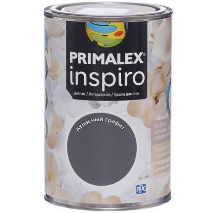Краска для внутренних работ Primalex Inspiro 1л Атласн Графит, 420176