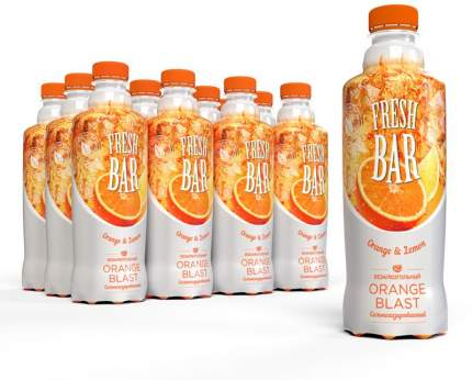 Газированный напиток  Fresh Bar Оранж Бласт 12 шт по 480 мл