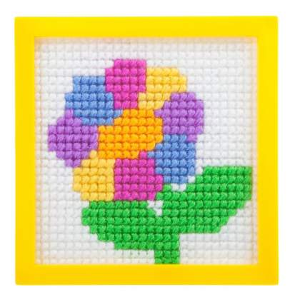 Набор для творчества Bondibon вышивка на пластиковой канве. цветик-семицветик