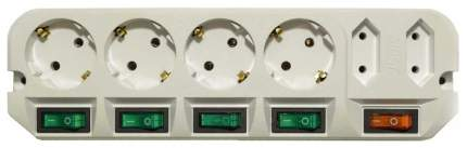 Сетевой фильтр MOST ARG, 6 розеток, 1,6 м, White