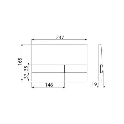 Кнопка управления AlcaPlast M1741 хром-глянцевый