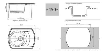 Мойка для кухни мраморная GranFest Rondo GF-R650L черный