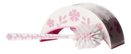 """Ерш туалетный с подставкой """"Камелия"""" (бело-розовый)"""