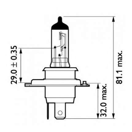 Лампа галогенная PHILIPS 75W P43t-38 13342MDC1