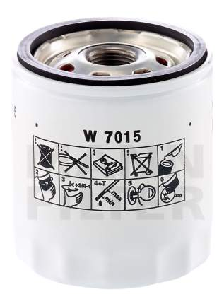 Фильтр масляный двигателя MANN-FILTER W7015