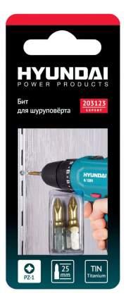 Биты для шуруповертов Hyundai PZ-1 25mm TIN 2шт (50/1000) 203123