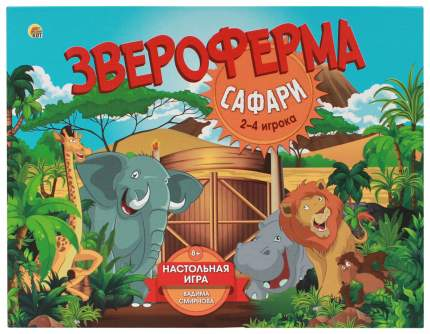Семейная настольная игра Рыжий кот Звероферма