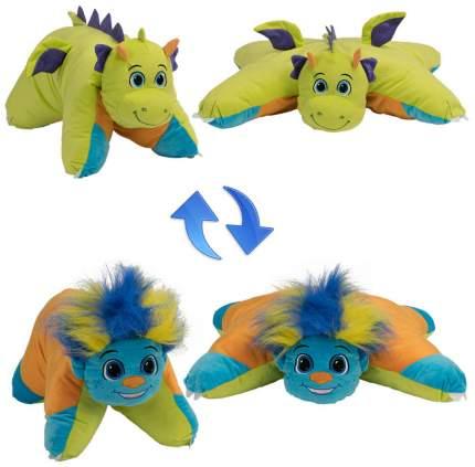 Подушка 1 Toy Вывернушка плюшевая Разноцветный Тролль Салатовый Дракон