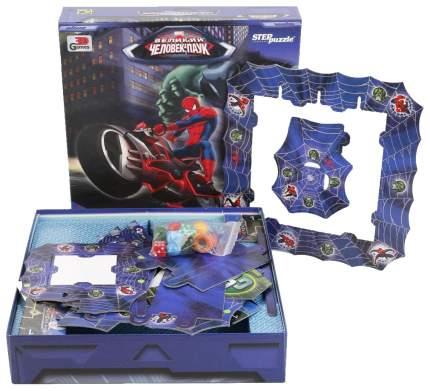 Семейная настольная игра Step Puzzle Великий Человек-паук Тайны небоскрёбов 76079