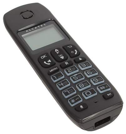 Телефон ALCATEL DECT E192 RU BLACK Caller ID 19 10 мелодий