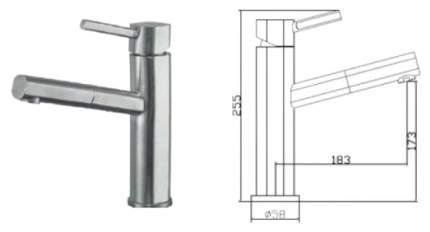 Смеситель для кухонной мойки Seaman SSN-1394P 395353 серый