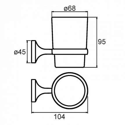 Стакан для зубных щеток Milardo Magellan MAGSMG0M45
