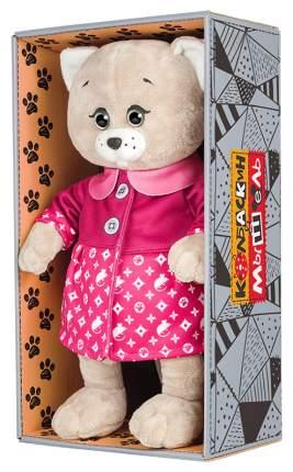 Мягкая игрушка животное Колбаскин&Мышель Мышель в Розовом Пальто 20 см