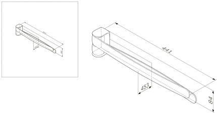 Двойная вешалка-вертушка для полотенец, Sensation A3032600, хром