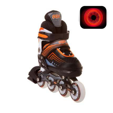 Раздвижные роликовые коньки RGX Atom Orange LED подсветка колес XS 27-30