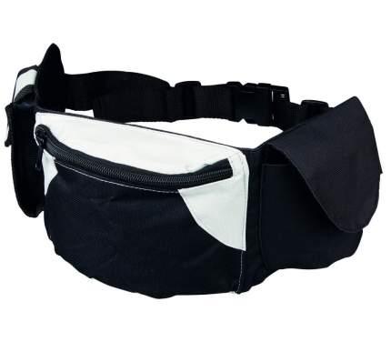Сумка для лакомств TRIXIE нейлон 21х5.5, с карманом, черный, серый
