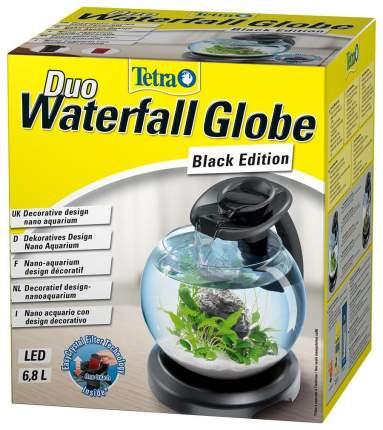 Аквариумный комплекс для рыб Tetra Cascade Globe Duo Waterfall, бесшовный, черный, 6,8 л