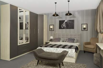 Кровать с подъёмным механизмом Hoff Бланка серый графит