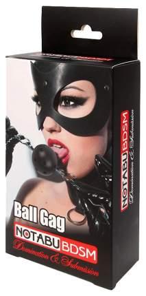 Кляп-шар Bior toys Ball Gag пластиковый черно-фиолетовый