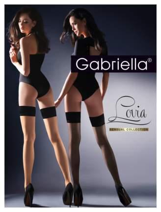 Чулки Gabriella Lovia с резинкой на силиконе телесный с черным 1-2 размер