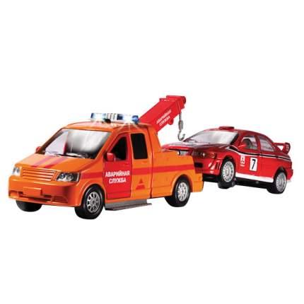 Машина Технопарк инерционная, металлическая эвакуатор аварийная служба с машинкой