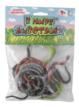 В мире животных змеи 12шт.пакет с хед.18х14х2,5см.