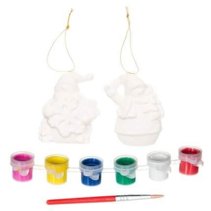 Набор для творчества Bondibon ёлочные украшения снеговички