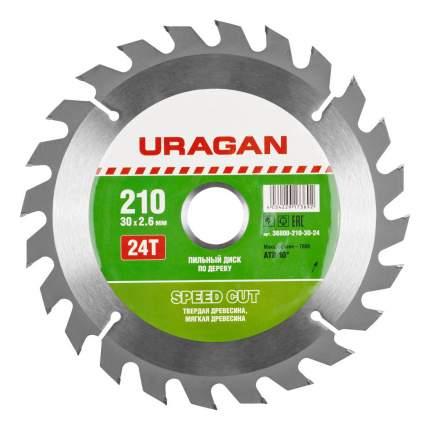 Диск по дереву для дисковых пил Uragan 36800-210-30-24