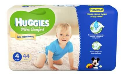 Подгузники Huggies Ultra Comfort для мальчиков 4 (8-14 кг), 44 шт.