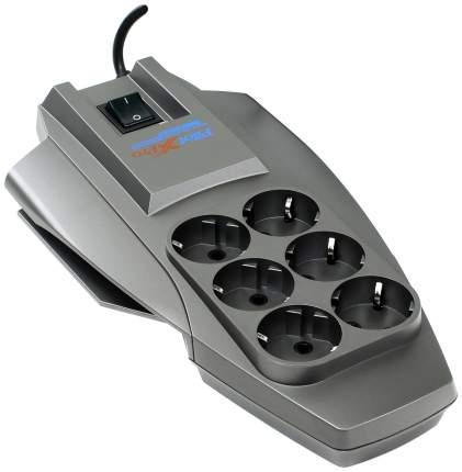 Сетевой фильтр Pilot X-Pro, 6 розеток, 3 м, Black