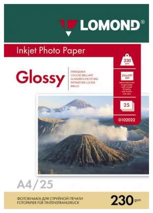 Фотобумага для принтера A4 Lomond 230г/кв.м односторонняя глянцевая 25 л