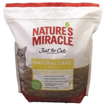 Комкующийся наполнитель Nature's Miracle кукурузный, 4.5 кг, 10 л